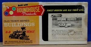 Roundhouse 1507 HO Old Timers 3n1 MOW 3 car Kit 30' wood supply Bunk Repair NIB