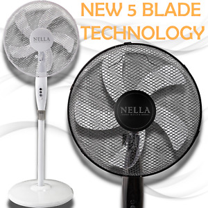 16 Inch Stand Fan with Heavy Round Base Air Cooling Fan 3 Speed Setting Uk Plug