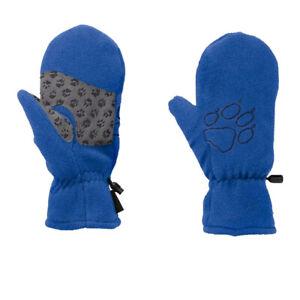 Jack Wolfskin Boys Fleece Mittens Blue Sports Outdoors Warm Breathable