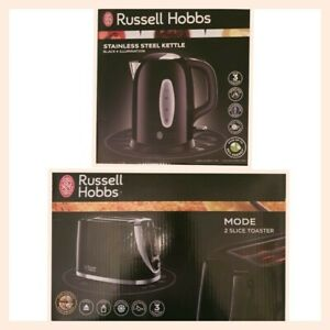 Russell Hobbs Black Kettle And Toaster