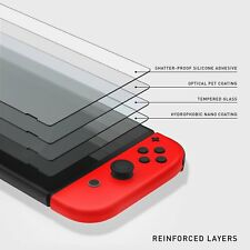 For Nintendo Switch Screen Protector Tempered Glass Anti-Scratch Bubble Free OU