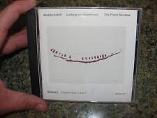ANDRAS SCHIFF 2 cd double THE PIANO SONATAS ludwig van BEETHOVEN volume 1 2 7 op
