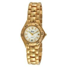 Swiss Edition 24K GOLD PLATED Women's Slim Dressy Quartz  Watch