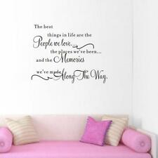 The Best Things In Life ~ Love Memories Wall Quote Home Art Decal Sticker JJ