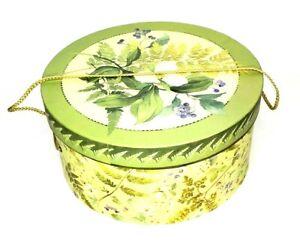 "Vintage Round Nesting Hat Keepsake Storage Box With Lids Floral 3 Piece Set 13"""
