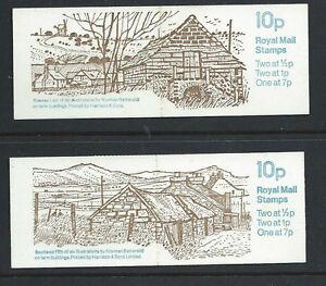 GB 1979 - FA8 & FA9 - 10p FOLDED BOOKLETS - FARM BUILDINGS Nos 5 & 6 - Complete