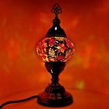 Turkish Table Lampe Authentique Coloré Mosaïque Verre Bureau Clair GB Tested