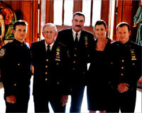 Blue Bloods TV series 8x10 cast photo Tom Selleck Donnie Wahlberg Len Cariou