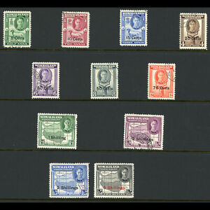 SOMALILAND PROTECTORATE 1951 Set of 11 Values. SG 125-135. Fine Used. (W0656)
