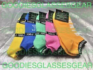 Victorias's Secret PINK VS No-Show Ankle Socks 5 Pairs Randomly Selected Colors
