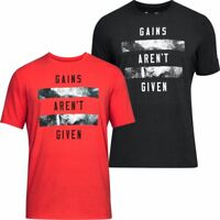 UNDER ARMOUR MENS UA GAINS GYM CHARGED COTTON TRAINING T-SHIRT 55% OFF RRP