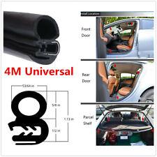 4M Car Left/Right Door Window Soundproof Dustproof Rubber Trim Sealing Strip
