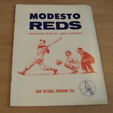 "1969 BASEBALL 'Official Program' ""MODESTO REDS"" Sparky Anderson~Reggie Jackson~"