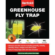 Rentokil Greenhouse Fly Traps Attracts Kills Insects Greenfly Whitefly Blackfly