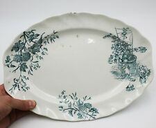 "Antique Doulton Burslem Woodstock Platter Plate 13.5"" Wide Rare 1880's  :T128"