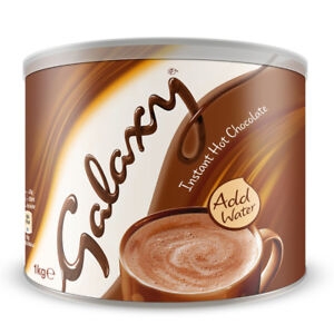 Galaxy Instant Hot Chocolate Drink Powder 1kg Tin (Pack of 5)