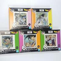 DRAGON BALL Super ichiban kuji VS EXISTENCE Glass plate 5 Lot F/S From JAPAN