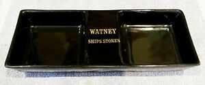 ASHTRAY COLLECTORS-UNMARKED EARTHENWARE ASHTRAY WATNEY SHIP STORES