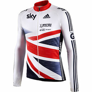 Adidas OFFICIAL GB SKY cycling jersey rider team issue bike top shirt LS  S M L