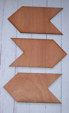 New Set of 3 Plywood Arrow signs Plaques for decoration, parties, weddings