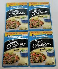 StarKist Tuna Creations RANCH - Lot  Of 4 Pouch - Gluten Free