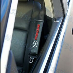 Carbon Look Embroidery SET of Seat Belt Cover Shoulder Pads for MAZDA RX7 RX8