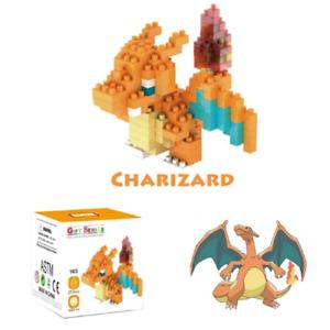 Charizard Pokemon Nintendo Nanoblock 3D Puzzle Toy Mini Micro Block 220 Pieces