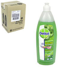 6 x Dettol Antibac Spray and Wipe Floor Cleaner 1L Apple Bulkbuy Wholesale Case