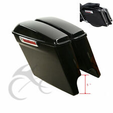 "5"" Stretched Extended Saddlebags W/ Latch Key For 14-18 Harley-Davidson Touring"