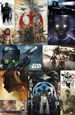 """Star Wars Rogue One Collage Movie Wall Poster 22"""" x 34"""" RP14634 w/ Sticky Tack"""