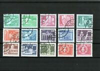 DDR - Briefmarkensatz - Sozialistischer Aufbau - Kleinformat - 15 Werte