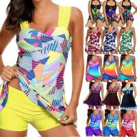 Women Lady Push Up Padded Tankini Bikini Set Swimsuit Beachwear Swimwear Bathing