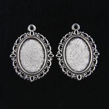 15pcs Tibetan Silver Photo Frame Cameo Setting Pendants 30x20mm ABFD