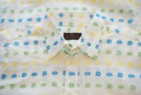 Etro Multicolor Bright Paisley Woven White Long Sleeved Button Up Shirt Sz 42