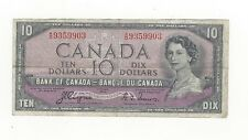 **1954 Devil's Face**Canada $10 Note, Coyne/Towers BC-32a, Ser# AD 9359903