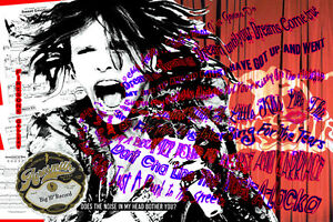 """Aerosmith's STEVEN TYLER  Pop Art """"limited edition""""  numbered and signed print"""