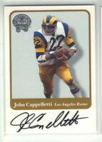 JOHN CAPPELLETTI 2001 FLEER GREATS OF THE GAME AUTO RAMS HEISMAN