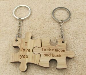His And Hers Keyrings I Love You To The Moon And Back Valentine Valentines Gift