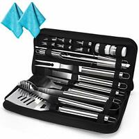 20 Pcs Heavy Duty BBQ Grilling Tools Set Stainless-Steel Barbecue Tools Set with