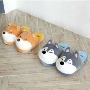 husky dog stuffed plush indoor shoes slippers slipper shoe unisex gift