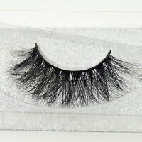 Natural Cross Long 100% Real 3D Mink Fur Eye Lashes Extension False Eyelashes