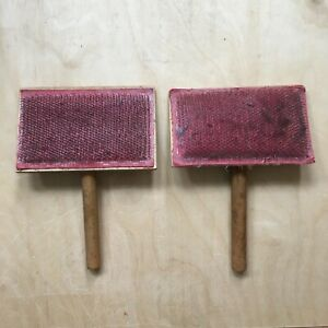 Wooden hand carders working condition