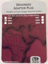 Korjo Grounded Adaptor Plug, White - NEW