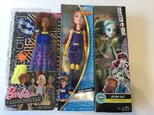Barbie Fashionistas,monster High,dc Super Hero Girls Doll Lot