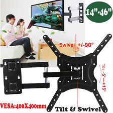 TV SWIVEL TILT WALL MOUNT BRACKET LCD 3D 22 26 28 32 37 42 46 VESA 200 300 400MM