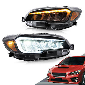 For 2015-2017 Subaru WRX Full LED Reflective Bowl Head Lights With Sequential