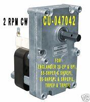 ENGLANDER PELLET STOVE AUGER FEED MOTOR  -  [XP7002] - 2 RPM CW  -  CU-047042