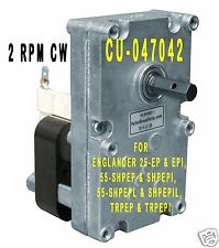 ENGLANDER PELLET STOVE AUGER FEED MOTOR  -  [XP7002] - 2 RPM CW  -  CU-047042