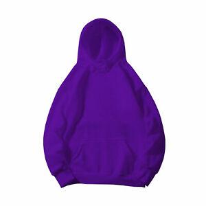 Women's Solid Full Pullover Hoodie Classic Hooded New Sweatshirt Cotton  Men