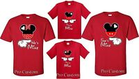 She's Mine He's mine They're Mine Mickey Minnie Disney  matching -Shirts S-4XL